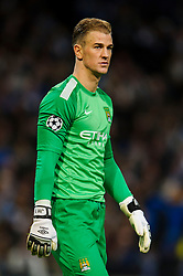Man City Goalkeeper Joe Hart (ENG) looks on - Photo mandatory by-line: Rogan Thomson/JMP - Tel: 07966 386802 - 18/02/2014 - SPORT - FOOTBALL - Etihad Stadium, Manchester - Manchester City v Barcelona - UEFA Champions League, Round of 16, First leg.
