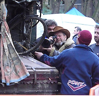 TERRY GILLIAM DIRECTING HIS FILM 'THE IMAGINARIUM OF DOCTOR PARNASSUS    STARING CHRISTOPHER PLUMMER, SUPERMODEL LILY COLE, TOM WAITS, VERN TROYER, HEATH LEDGER High Quality Prints please enquire via contact Page. Rights Managed Downloads available for Press and Media