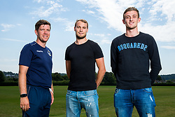 Bristol Rovers Manager Darrell Clarke poses with newly signed Goalkeepers Sam Slocombe and Adam Smith ahead of the 2017/18 Sky Bet League One Season - Rogan/JMP - 06/07/2017 - FOOTBALL - The Lawns Training Ground - Bristol, England.