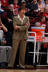 Nov 13, 2011; Stanford CA, USA;  Stanford Cardinal head coach Tara VanDerveer on the sidelines against the Gonzaga Bulldogs during the first half at Maples Pavilion.  Stanford defeated Gonzaga 76-61. Mandatory Credit: Jason O. Watson-US PRESSWIRE