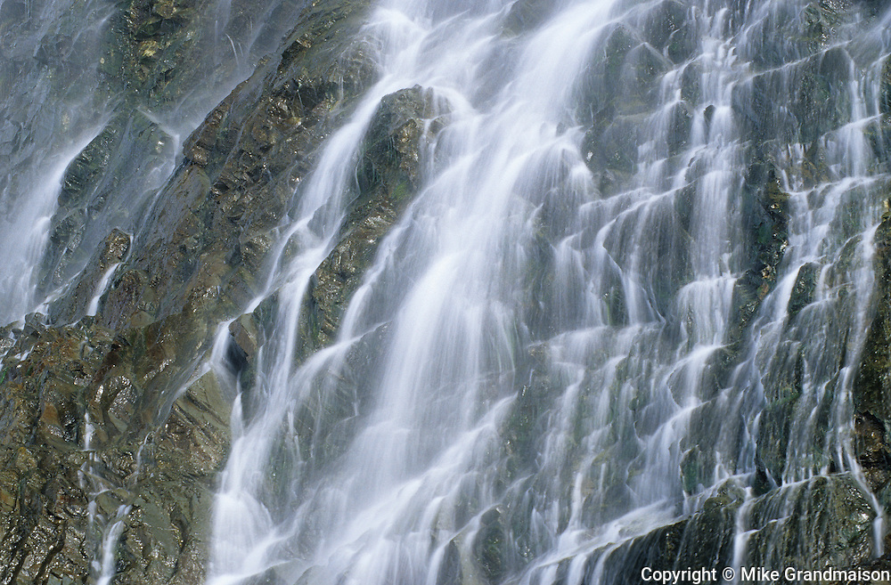 Waterfall detail on Gaspe Peninsula<br /> La Tourelle<br /> Quebec<br /> Canada