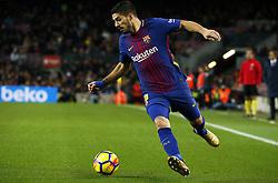December 17, 2017 - Barcelona, Catalonia, Spain - Luis Suarez during the La Liga match between FC Barcelona v Real Club Deportivo de La Coruna, in Barcelona, on December 17, 2017. (Credit Image: © Joan Valls/NurPhoto via ZUMA Press)