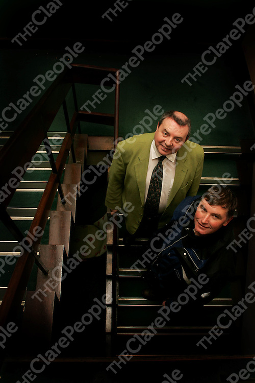 John Rouine - Course Super and Alan Reardon-Manager pictured at Lahinch Golf Club on Thursday. Pic. Brian Arthur/ Press 22.