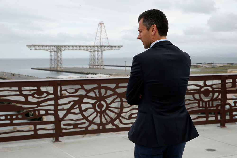 Bosch North America business development director Pierre Maillot at the Hunters Point Shipyard, Wednesday, April 11, 2018, in San Francisco, Calif.