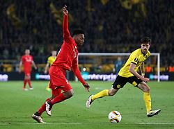 Daniel Sturridge of Liverpool runs with the ball - Mandatory by-line: Robbie Stephenson/JMP - 07/04/2016 - FOOTBALL - Signal Iduna Park - Dortmund,  - Borussia Dortmund v Liverpool - UEFA Europa League Quarter Finals First Leg