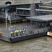 A person jump into the river thames at Westminster bridge