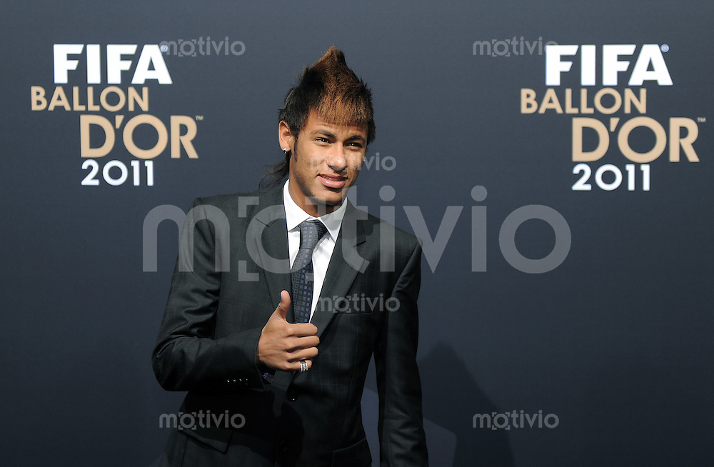 Fussball International  FIFA Ballon d Or / Weltfussballer 2011   09.01.2012 Neymar (Brasilien)