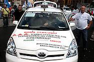Roma  31 Maggio 2007.Manifestazione  dei Tassisti, contro il decreto sulle liberalizzazioni del Governo Prodi...Rome May 31, 2007.Demonstration of Taxi Drivers against the decree on the liberalization of the Prodi government...