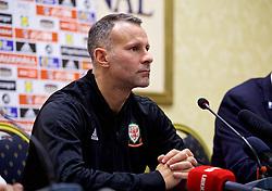 TIRANA, ALBANIA - Monday, November 19, 2018: Wales' manager Ryan Giggs during a press conference at the Tirana International Hotel ahead of the International Friendly match between Albania and Wales. (Pic by David Rawcliffe/Propaganda)