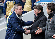 Millwall Manager Neil Harris and Walter Mazzarri manager of Watford  greet during the FA Cup match at The Den, London<br /> Picture by Liam McAvoy/Focus Images Ltd 07413 543156<br /> 29/01/2017