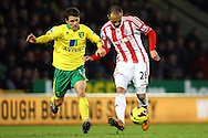 Picture by Paul Chesterton/Focus Images Ltd +44 7904 640267.03/11/2012.Wes Hoolahan of Norwich and Matthew Etherington of Stoke in action during the Barclays Premier League match at Carrow Road, Norwich.
