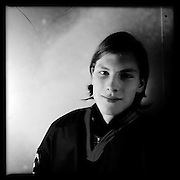 Ice Men Cometh… Sigurdur Reynisson, 16, Iceland..An iPhone portrait series on young men competing in the 2012 IIHF Ice Hockey World Championships Division 3. The tournament  was contested by countries New Zealand, Iceland, China, Bulgaria and Turkey at Dunedin Ice Stadium. Dunedin, Otago, New Zealand. 17th January 2012. Photo Tim Clayton