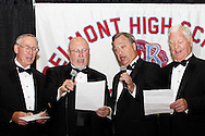 A barbershop quartet leads the BHS alma mater during the 55th Annual Belmont High School commencement at the new BHS gymnasium, Saturday, May 19, 2012.