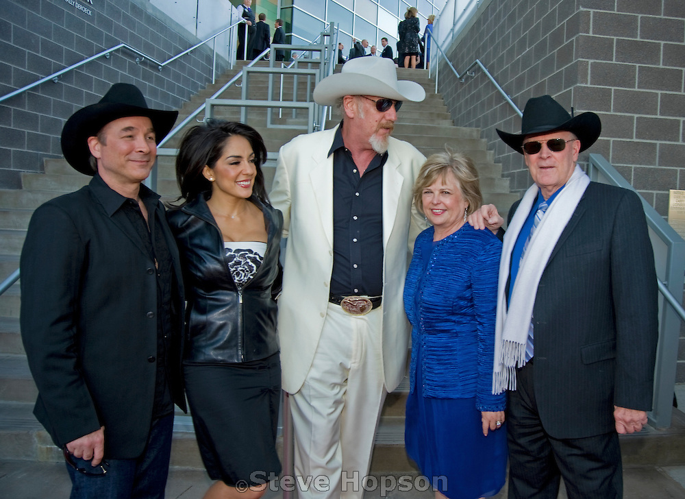 Clint Black, Michelle Valles, and Ray Benson at the Texas Medal of Arts Awards, Austin Texas, April 7, 2009. The Texas Medal of Arts Awards is a celebration by the Texas Cultural Trust of the finest in Texas artists.
