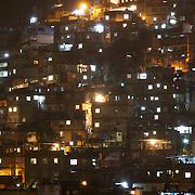 The favela Morro dos Cabritos just behind Copacabana beach, Rio de Janeiro,  Brazil. 14th July 2010. Photo Tim Clayton..