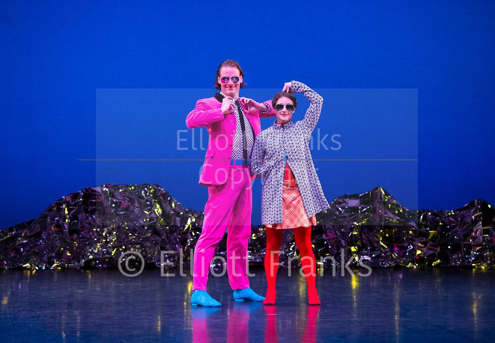 Mark Morris Dance Group's <br /> Pepperland <br /> Choreography by Mark Morris <br /> at Sadler's Wells,  London, Great Britain <br /> 20th March 2019 <br /> Rehearsal <br /> <br /> Mica Bernas, <br /> Sam Black, <br /> Domingo Estrada, Jr., <br /> Nicole Sabella <br /> Brandon Randolph <br /> John Eirich <br /> Lesley Garrison <br /> Lauren Grant <br /> Sarah Haarmann <br /> Deepa Liegel <br /> <br /> <br /> Photograph by Elliott From Franks