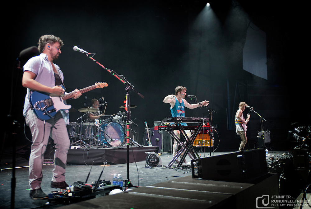 Walk the Moon opens for FUN on 6/27/13 at The Marcus Amphitheater during Summerfest in Milwaukee, Wi. Photo © 2013 Jennifer Rondinelli Reilly.  All RIghts Reserved. No use without permission. Contact me for any reuse or licensing inquiries.