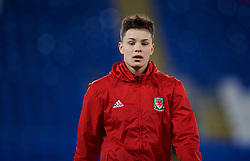 CARDIFF, WALES - Friday, November 24, 2017: Wales' Grace Horrell during the pre-match warm-up before the FIFA Women's World Cup 2019 Qualifying Round Group 1 match between Wales and Kazakhstan at the Cardiff City Stadium. (Pic by David Rawcliffe/Propaganda)