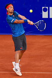 Fabio Fognini (ITA) during a tennis match against the Jiri Vesely (CZE) in Qualification round of singles at 26. Konzum Croatia Open Umag 2015, on July 20, 2015, in Umag, Croatia. Ptoto by Urban Urbanc / Sportida