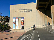 The entrance to The Diaspora museum at the Tel Aviv university, Israel