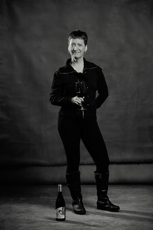 Portrait of Marie-Eve Gilla, winemaker for Forgeron Cellars