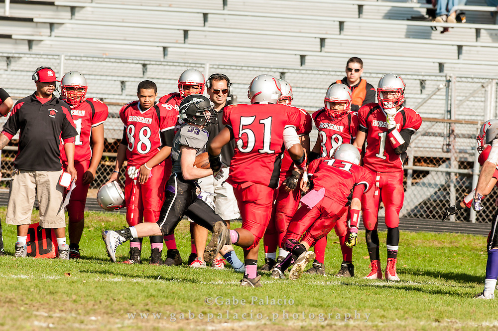 John Jay Varsity Football game at Sleepy Hollow on October 25, 2014. (photo by Gabe Palacio)