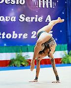 Camilla Cavaliere atleta della società Flaminio di Roma durante la seconda prova del Campionato Italiano di Ginnastica Ritmica.<br /> La gara si è svolta a Desio il 31 ottobre 2015.