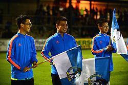 Flag bearers - Mandatory by-line: Dougie Allward/JMP - 31/10/2017 - FOOTBALL - Memorial Stadium - Bristol, England - Bristol Rovers v West Ham United U21 - Checkatrade Trophy