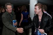 JOHN HURT; STEPHEN WEBB, FIRST NIGHT for Matthew Bourne's Swan Lake. Sadler's Wells. London. 11 December 2009