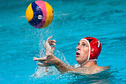 Luka Grzentic of Slovenia at water polo match between National men teams of Slovenia and Germany in Qualifications for European Championships in Eindhoven 2012 on June 18, 2011 in Pokriti bazen, Kranj Slovenia. (Photo By Matic Klansek Velej / Sportida.com)