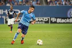 September 5, 2018 - Bronx, New York, United States - New York City midfielder VALENTIN CASTELLANOS #11 during a regular season match at Yankee Stadium in Bronx, NY.  New England Revolution defeats New York City FC 1 to 0 (Credit Image: © Mark Smith/ZUMA Wire)