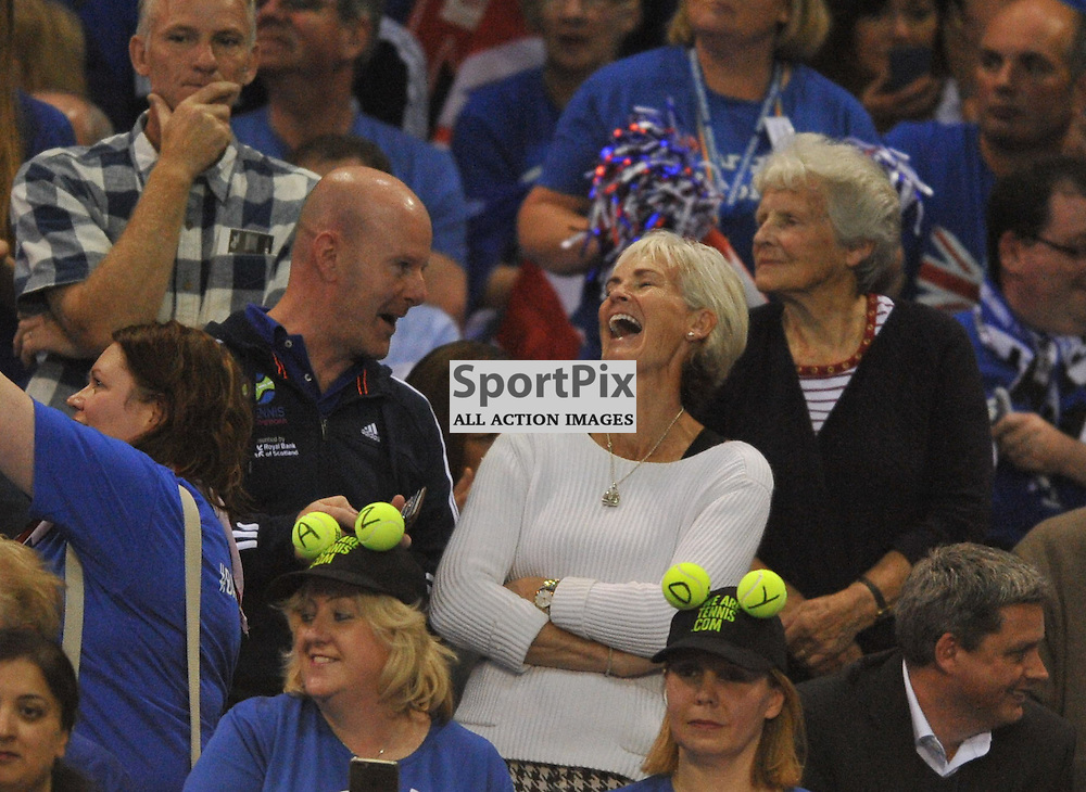 Judy Murray during the Great Britain v Australia, Semi Finals,  Aegeon Davis Cup by BNP Paribas, Friday 18 September 2015 (c) Angie Isac | SportPix.org.uk