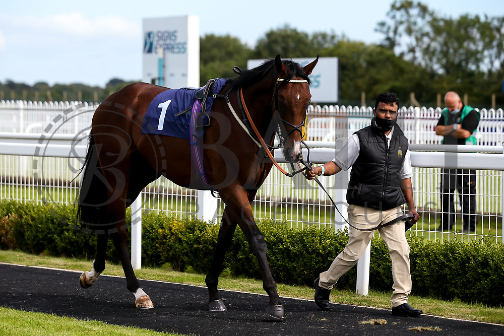 Secret Handsheikh ridden by Adam McNamara and trained by Archie Watson - Mandatory by-line: Robbie Stephenson/JMP - 18/07/2020 - HORSE RACING- Bath Racecourse - Bath, England - Bath Races 18/07/20
