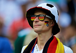 MOSCOW, RUSSIA - Sunday, June 17, 2018: A Germany supporter with sunglasses during the FIFA World Cup Russia 2018 Group F match between Germany and Mexico at the Luzhniki Stadium. (Pic by David Rawcliffe/Propaganda)