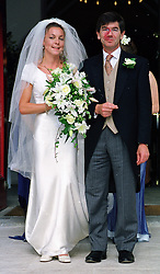 LADY CAMILLA BINGHAM daughter of the missing Lord Lucan and MR MICHAEL BLOCH at their wedding on 12th September 1998.MJT 26