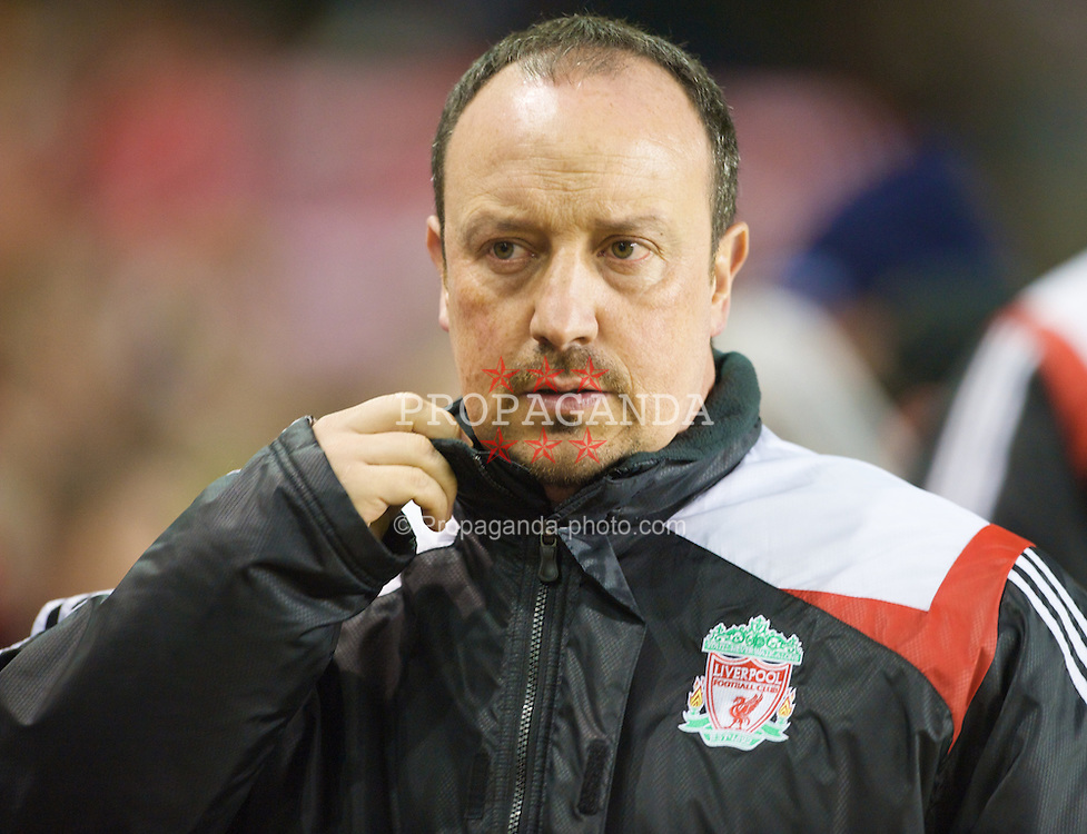 LIVERPOOL, ENGLAND - Wednesday, March 5, 2008: Liverpool's manager Rafael Benitez before the Premiership match against West Ham United at Anfield. (Photo by David Rawcliffe/Propaganda)