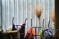 Broom Closet, cleaning supplies Bangkok, Thailand.