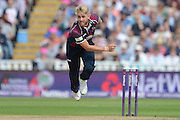 Olly Stone during the NatWest T20 Blast semi final match between Northamptonshire County Cricket Club and Warwickshire County Cricket Club at Edgbaston, Birmingham, United Kingdom on 29 August 2015. Photo by David Vokes.