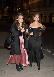 Left to right, POSY WOOD and FREYA WOOD at the Tatler Little Black Book Party at Home House Member's Club, Portman Square, London supported by CARAT on 11th November 2015.