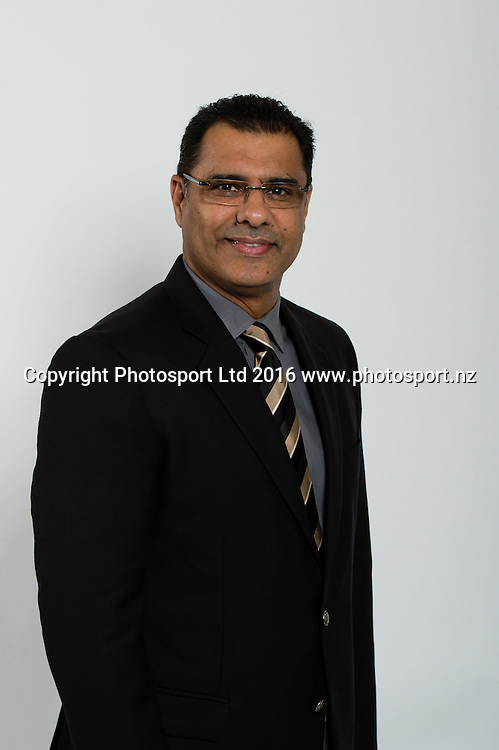 Waqar Younis. Sky Presenters headshots. Christchurch, New Zealand, 16th November 2016. © Copyright Photo: John Davidson / www.photosport.nz