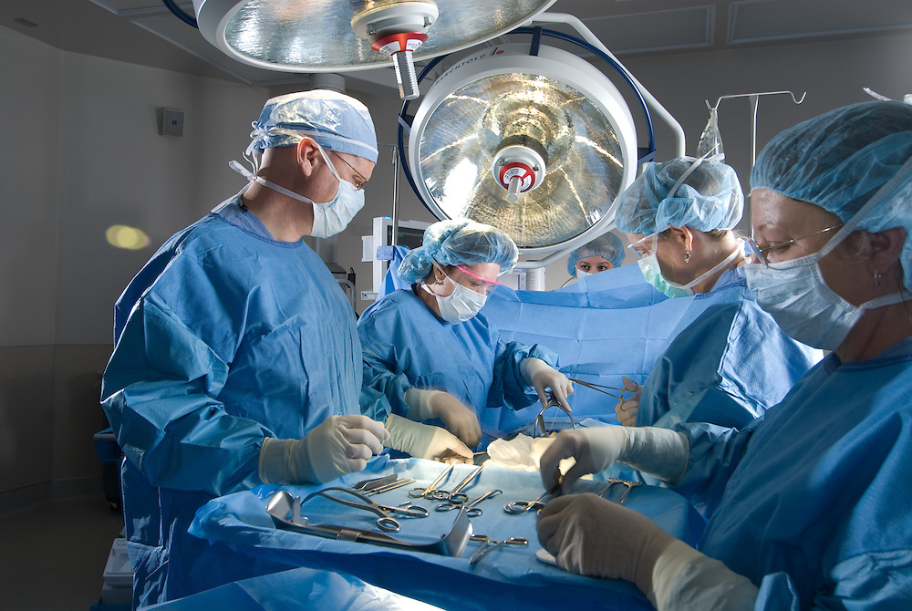Doctors in an operating room
