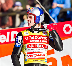 06.02.2011, Heini Klopfer Skiflugschanze, Oberstdorf, GER, FIS World Cup, Ski Jumping, Teamwettbewerb, Finale, im Bild Gregor Schlierenzauer (AUT) , during ski jump at the ski jumping world cup Trail round in Oberstdorf, Germany on 06/02/2011, EXPA Pictures © 2011, PhotoCredit: EXPA/ P. Rinderer