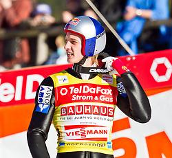 06.02.2011, Heini Klopfer Skiflugschanze, Oberstdorf, GER, FIS World Cup, Ski Jumping, Teamwettbewerb, Finale, im Bild Gregor Schlierenzauer (AUT) , during ski jump at the ski jumping world cup Trail round in Oberstdorf, Germany on 06/02/2011, EXPA Pictures © 2011, PhotoCredit: EXPA/ P. Rinderer