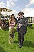 Mala Lindsay and Guy Louthan.   Cartier International Polo 2000. Smiths Lawn.  31/7/00<br />© Copyright Photograph by Dafydd Jones 66 Stockwell Park Rd. London SW9 0DA Tel 020 7733 0108 www.dafjones.com
