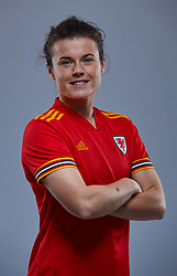 NEWPORT, WALES - Friday, November 8, 2019: Wales' Hayley Ladd during a photo shoot with the new 2019/20 Adidas home kit at Rodney Parade. (Pic by David Rawcliffe/Propaganda)