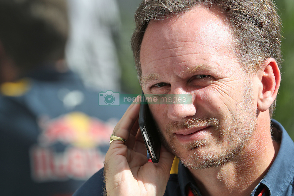 Formel 1: Grosser Preis der USA in Austin, Renntag / 231016<br /> <br /> ***Christian Horner (GBR) Red Bull Racing Team Principal.<br /> 23.10.2016. Formula 1 World Championship, Rd 18, United States Grand Prix, Austin, Texas, USA, Race Day.<br /> ***