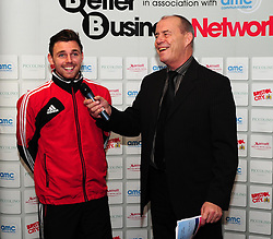 Bristol City's Paul Anderson laughs with former Bristol City player, Paul Cheesley - Photo mandatory by-line: Dougie Allward/JMP - Tel: Mobile: 07966 386802 29/12/2012 - SPORT - FOOTBALL - Ashton Gate - Bristol -  Bristol City v Peterborough United - Championship.