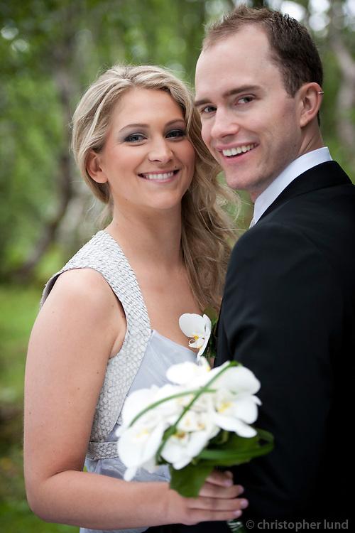 Ellert Baldursson og Unnur Helga Gunnarsdóttir gifta sig. Frá myndatöku í Elliðaárdalnum.