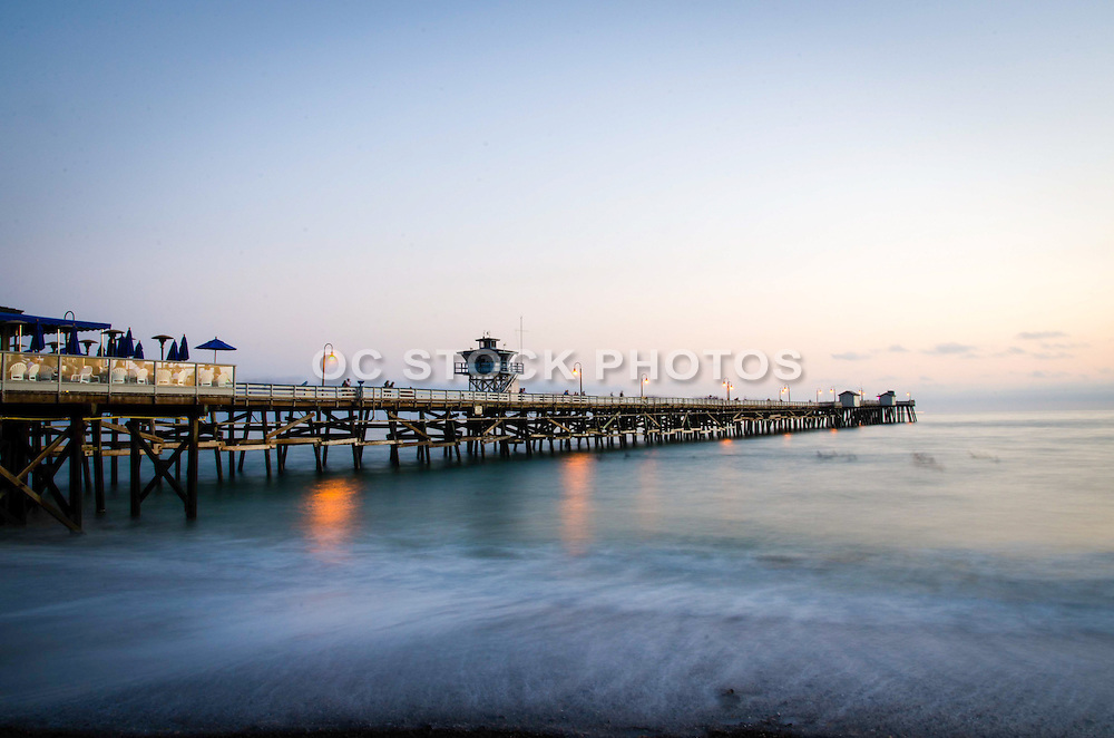 Time Exposure Stock Photo of San Clemente Pier