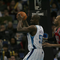 Jan 29, 2010; New Orleans, LA, USA; during the second half at the New Orleans Arena. The Bulls defeated the Hornets 108-106 in overtime. Mandatory Credit: Derick E. Hingle-US PRESSWIRE